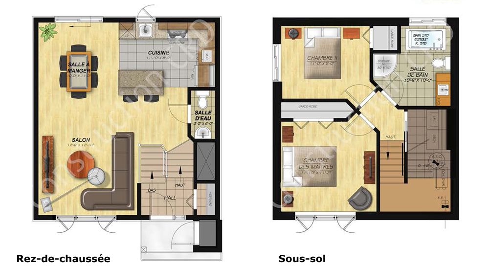 Le Chaînon Split - Bungalow-split plans
