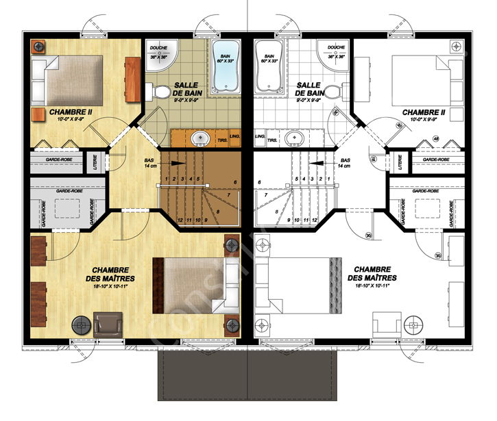 Contemporain II plan étage