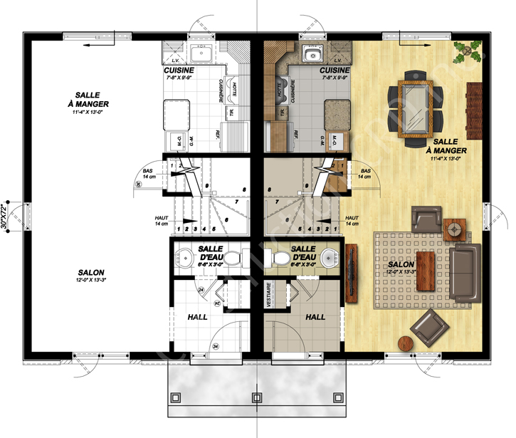Contemporain II plan rc