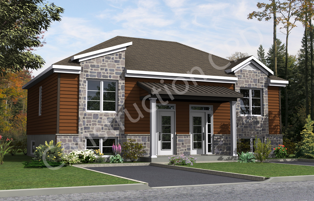 Le contemporain construction c r d for Maison modele victoriaville 2016